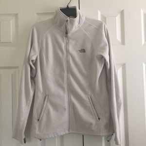 Women's The North Face Zip Up White Jacket Large